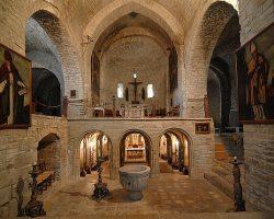 Interior de la ex catedral de San Vicente, Roda de Isábena- G.M. Archivo del Gobierno de Aragón